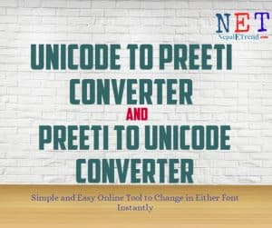 Preeti-to-unicode-and-unicode-to-preeti-converter